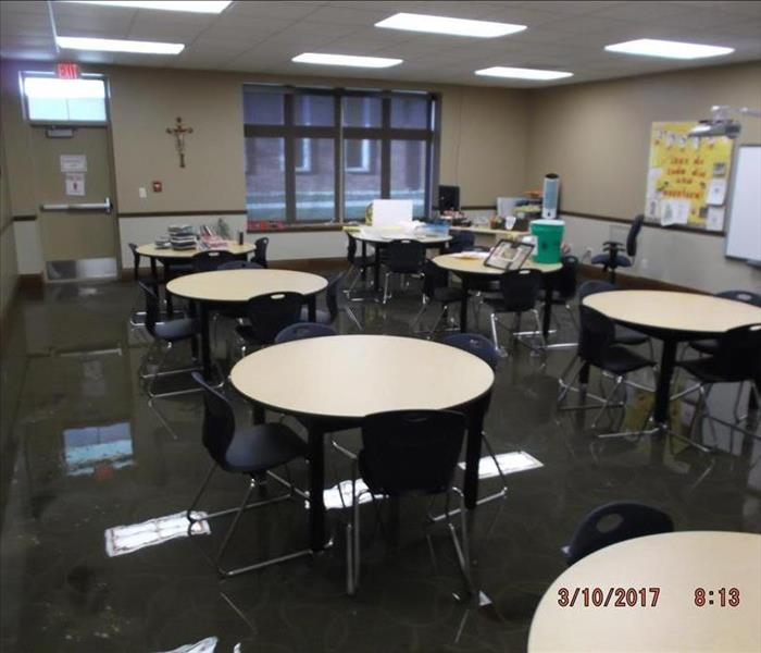 Flooded School in Normal, IL Before