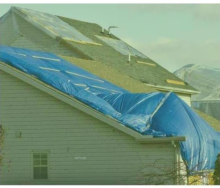 Tarped Roof